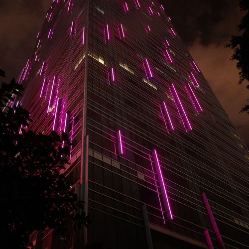 Nightcall Night Illuminated Low Angle View Celebration Pink Color Event Lighting Equipment The Architect - 2018 EyeEm Awards HUAWEI Photo Award: After Dark Humanity Meets Technology