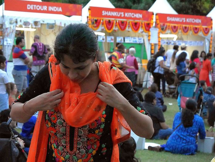 Multi Colored Outdoors Women Festivals People Cultures Women Around The World Parramasala Celebration