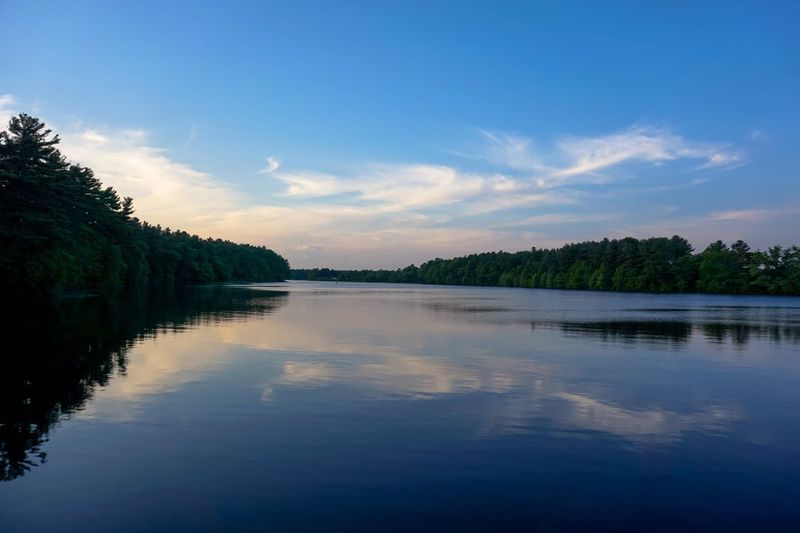 Landscape Reflection Tranquil Scene Water Beauty In Nature Sky Outdoors Blue Sunset Lake Landscape