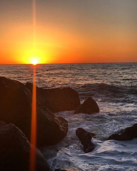 Atardeceres en Ensenada Sunset Sea Beauty In Nature Scenics Horizon Over Water Nature Sun
