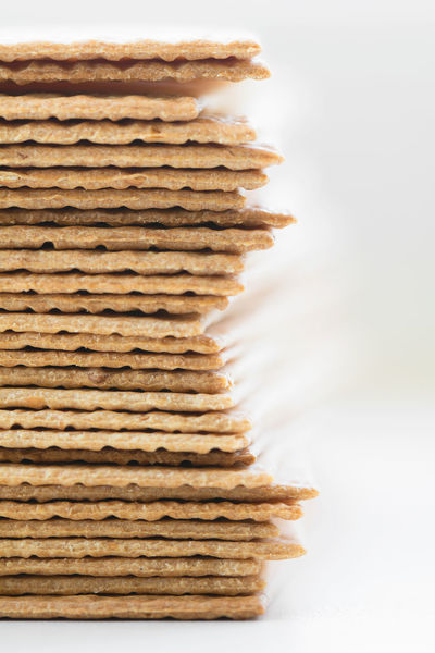 Bakery Bread Breakfast Cookies Cracker Food And Drink Stack White Background