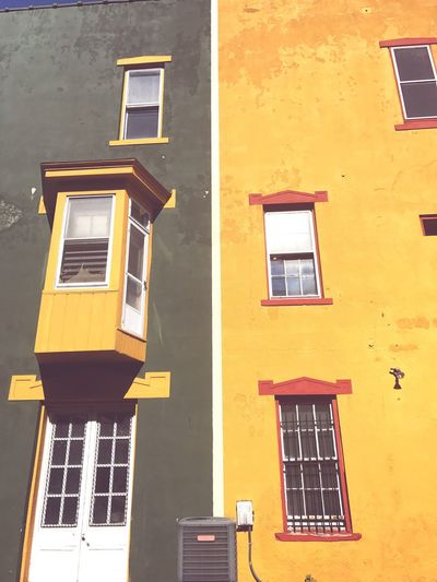 Window Building Exterior Architecture Yellow Built Structure No People Day Outdoors Sky