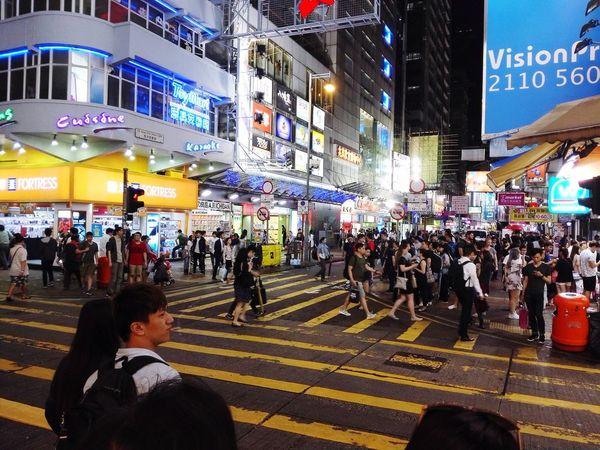 Night at Hong Kong #hongkong #Night City Outdoors Real People First Eyeem Photo Stories From The City