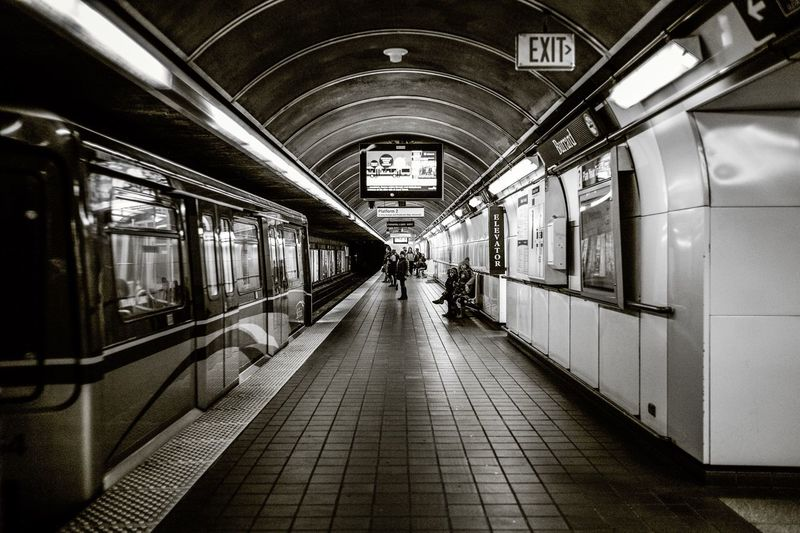 Transportation Public Transportation Train - Vehicle Rail Transportation Indoors  Subway Train Mode Of Transport Travel Men Real People Subway Station Illuminated Adult Day Adults Only People From My Point Of View The Week On EyeEm