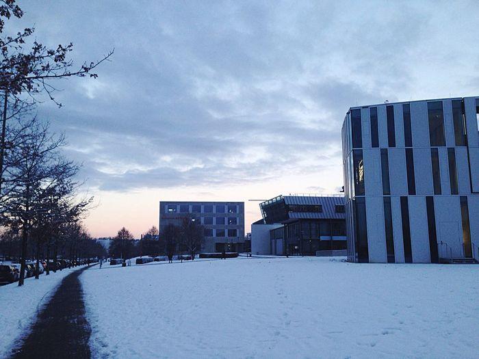 Cold Temperature Snow Winter Sky Outdoors Building Exterior Built Structure Architecture Cloud - Sky