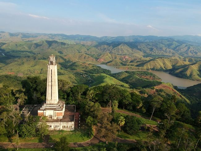 Ancient lighthouse at Mantiqueira Hills Lighthouse Landscape Tree City Place Of Worship Religion Spirituality Tradition Historic Monument Old Ruin Valley The Past Ruined