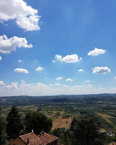 High Angle View Sky Day Cloud - Sky No People Outdoors Tree Architecture Mountain Nature Building Exterior Beauty In Nature City Cityscape From Top To Valley Aerial View Freshness Point Of View Scenics Travel Destinations Piedmont Italy Langhe