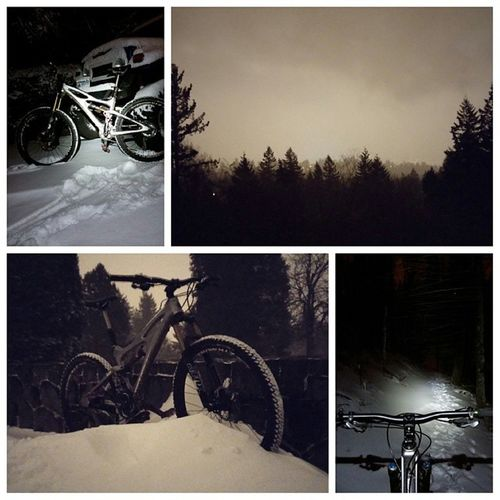 Out playing in Snowpocalypse2014 ! Winterriding Snowbiking Instabike shredvibes enduro