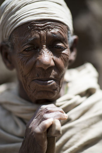 Ethiopia Ethiopian Photography 🇪🇹 Africa Focus On Foreground One Person Portrait Senior Adult Wrinkled