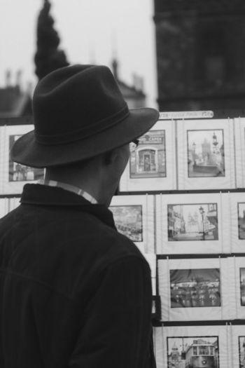 Cap Charles Bridge Czech Republic Headshot Lifestyles Men Outdoors Prague Real People Rear View Street Streetphotography