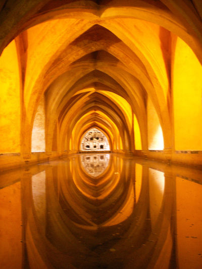 Alcazar Cathedral Arab Baths Arch Architecture Built Structure Day Indoors  No People Seville
