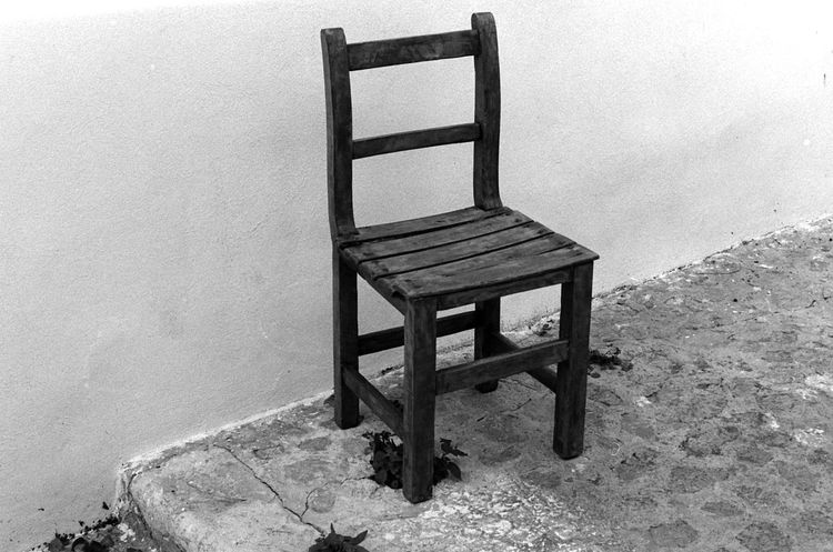 Analogue Photography Black And White Black And White Photography Blackandwhite Chair Chair Chairs Film Photography Forsale No People TriX400 Wood - Material WoodChair