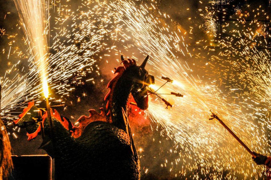 Diables! Correfoc Fireworks Fire Nightphotography Night Traditional Catalunya