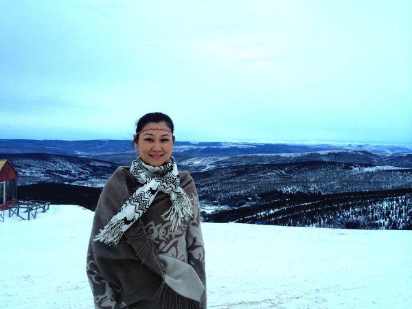 MongolianGirls Mongolian Alaska Fairbanks Enjoying The View That's Me Winter Wonderland I Love It ❤ Vacation Winter