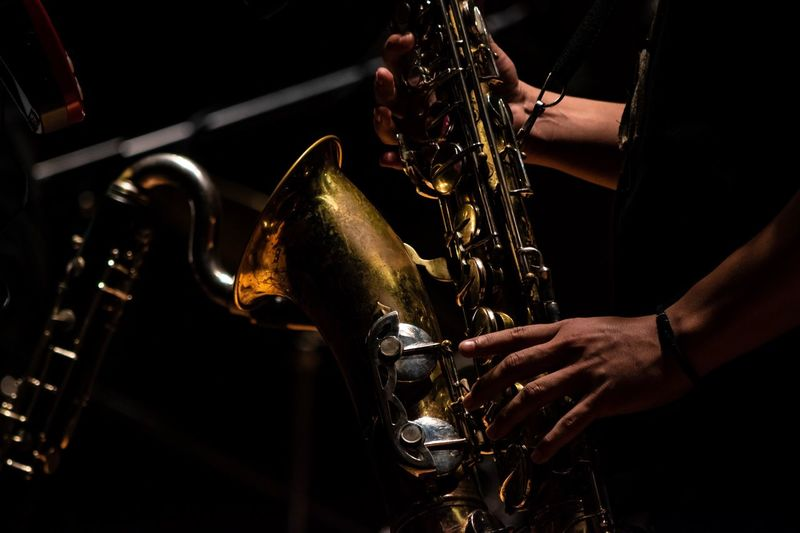 EyeEm Selects Human Hand One Person Hand Occupation Real People Human Body Part Arts Culture And Entertainment Indoors  Skill  Musical Instrument Music Artist Holding Saxophone Playing Midsection Musician First Eyeem Photo
