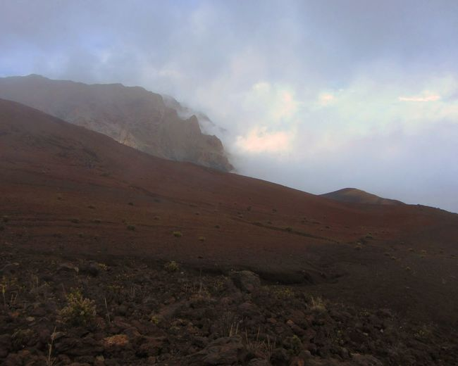 Cloudy conditions at Haleakala Crater, Maui, Hawaii. Cloud Cloudscape National Park Beauty In Nature Day Fog Landscape Mountain Nature No People Outdoors Scenics Sky Tranquil Scene Tranquility Volcanic  Volcano Lost In The Landscape Perspectives On Nature