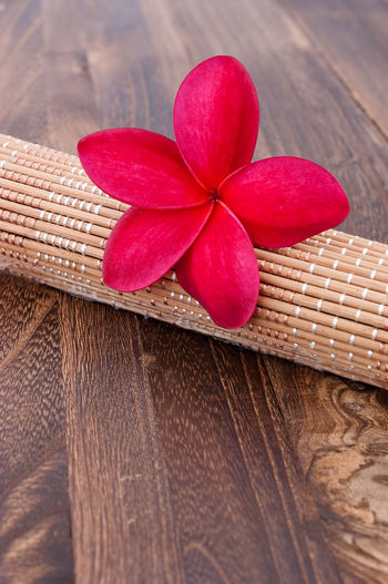 Tropical Plumeria on a rattan mat for spa and wellness concept Aromatherapy Frangipani Freshness Freshnesss Nature Plumeria Tropical Plumeria Wellness Aroma Bathroom Beauty Flower Fragrant Freshness Healthy Eating Herbal Naural Rattan Mat Relaxation Scent Spa Theraphy Treatment Tropical Wooden