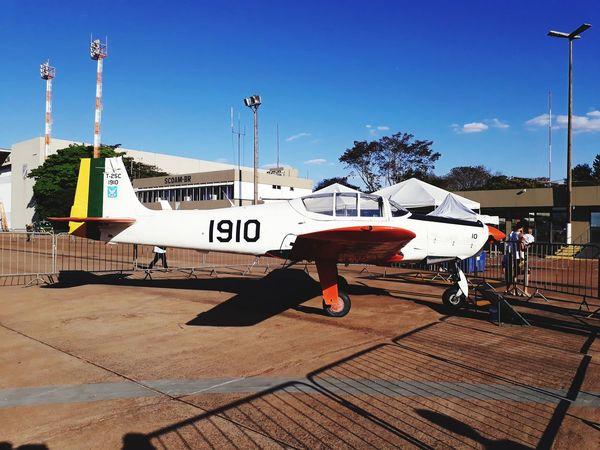 Airplane Airport Air Base Aviation Avion Full Length Communication Text Sky