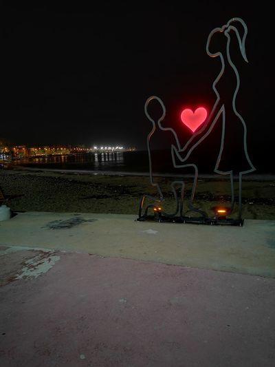 Night Heart Shape Sky Outdoors Star - Space Yalova Yalovasahili Water Sea Turkey