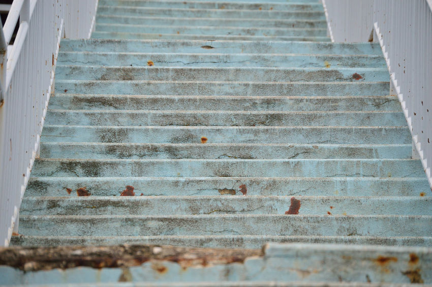 Old stairs Architecture Blue Day No People Old Staircase Steps Steps And Staircases