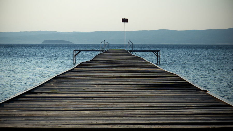 Saros Körfezi Turkey Aegea Beauty In Nature Day Direction Gulf Idyllic Jetty Nature No People Outdoors Pier Saros Scenics - Nature Sea The Way Forward Thrace Tranquil Scene Tranquility Water Wood Wood - Material Wood Paneling