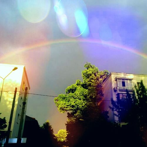 Bucharest Rainy Day rainbow Floreasca sun light Relaxing