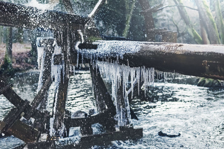 Ice Icicle Icicles Icicles Hanging River Snow Water Waterwheel Wheel Winter First Eyeem Photo