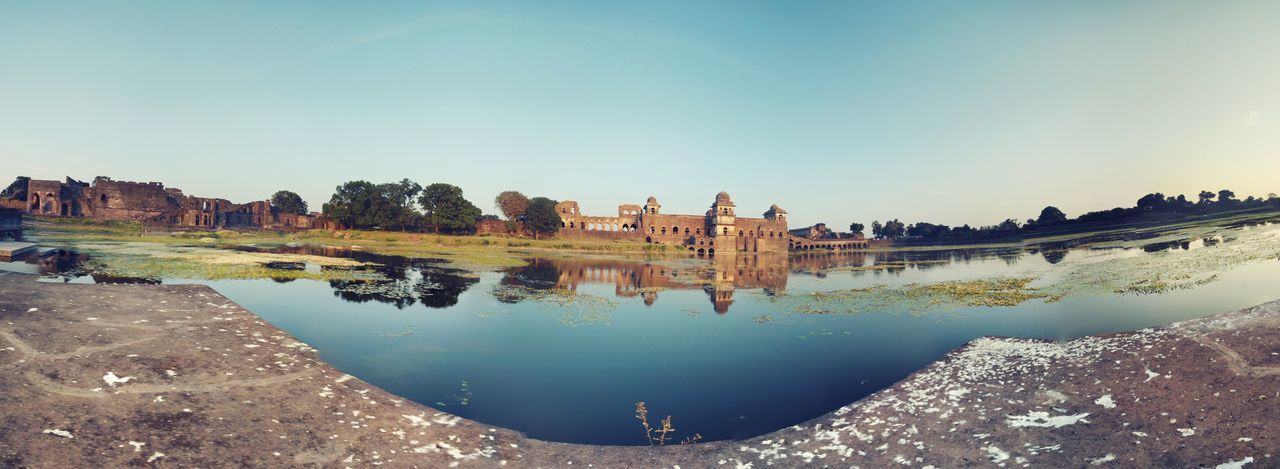 Reflection Travel Destinations History Water Lake Architecture Ancient Sky Clear Sky Scenics Outdoors Royalty Day MyClick Xiaomiphotography Mi5 Photo MI5 Smartphonephotography Built Structure Jahaz Mahal