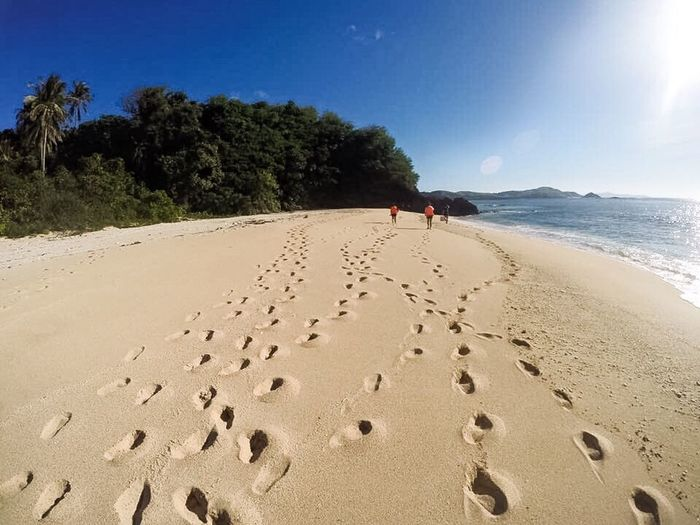 Footprints on the sand ❤️ Beach Sea Shore Sand Island Nature Tourism Beauty In Nature Travel Destinations Calaguas