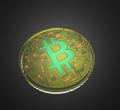 Bitcoin Currency Voxel Artwork CGI Voxel Bitcoin Bitcoin Coin Computer Graphic Crypto Currency Cryptocurrency Cryptography Digital Currency