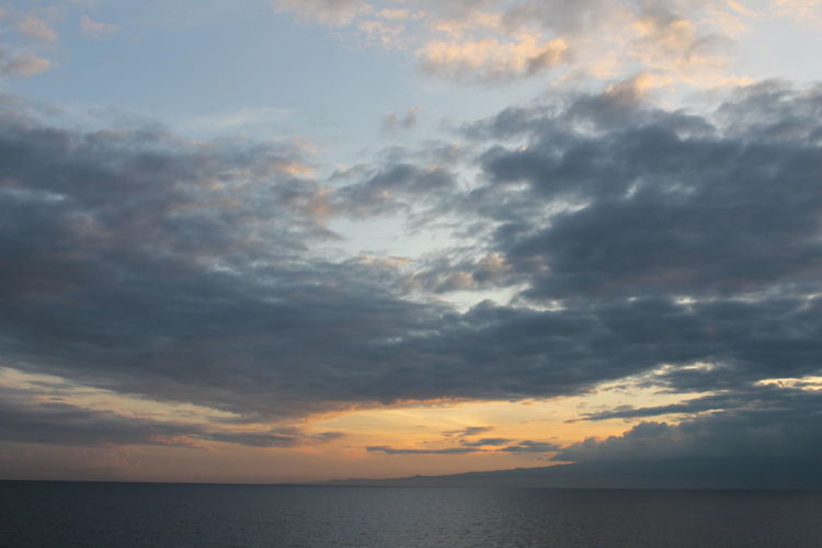 Sky Cloud - Sky Water Sea Sunset Beauty In Nature Horizon Horizon Over Water Scenics - Nature Tranquility Nature Tranquil Scene Dramatic Sky No People Idyllic Outdoors Waterfront Storm Ominous Contemplation