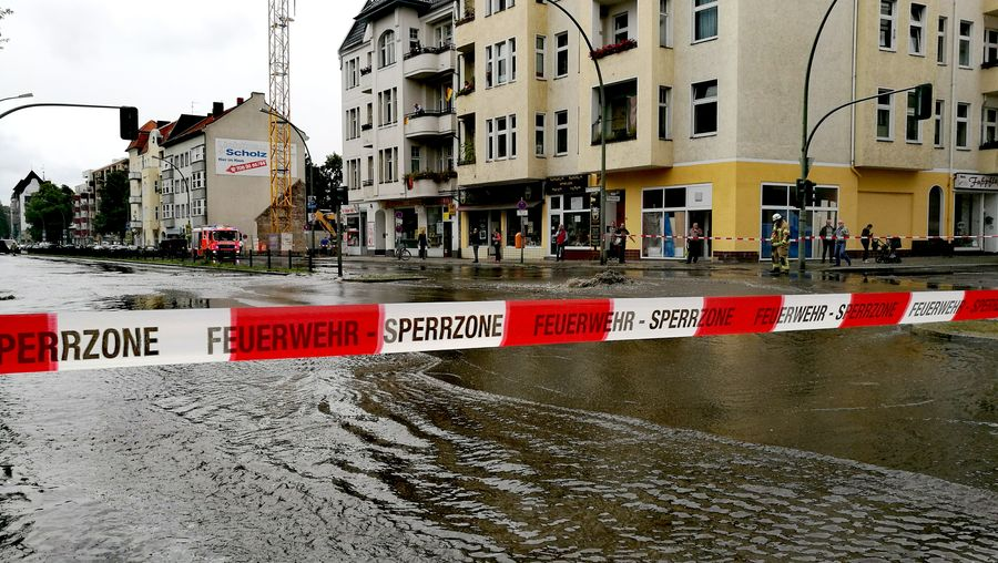 Flood Flooding Burst Main Water Pipe Burst Water Main Break Street Photography On My Way Home Berlin Mariendorf Mariendorfer Damm Fire Department Fire Brigade Cordoned Warning Tape Crossroads Berlin Tempelhof People And Places Snap a Stranger Embrace Urban Life Chance Encounters Capture Berlin waiting game The Street Photographer - 2017 EyeEm Awards