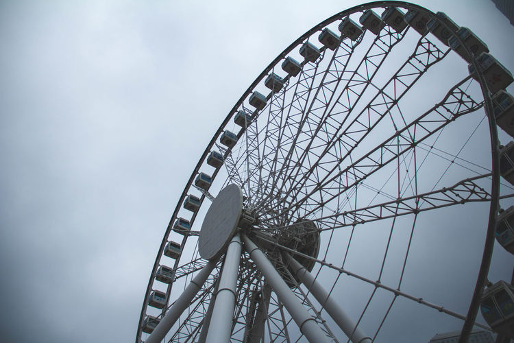 Amusement Park Amusement Park Ride Arts Culture And Entertainment Big Wheel Day Ferris Wheel Low Angle View No People Outdoors Sky