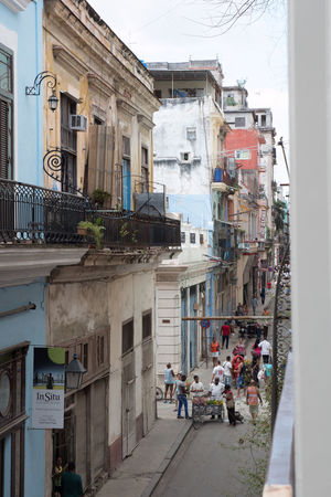 View from first floor of the Winfredo Lam Centrer of Contemporary Art Architecture Building Exterior Built Structure City Cuba Cuba Collection Day Elevated View Habana Vieja Havana Large Group Of People Malecon Night Outdoors People Sky Street Life Travel Destinations Travelling Photography