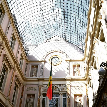 Architecture Built Structure Low Angle View No People Shadow Galleries Brussels Indoors  Day Architecture Built Structure Low Angle View O People Indoors  Sky