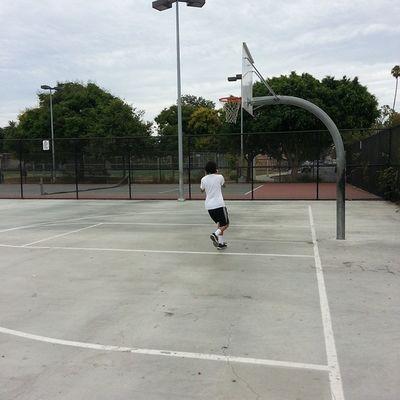 Playing basketball :)