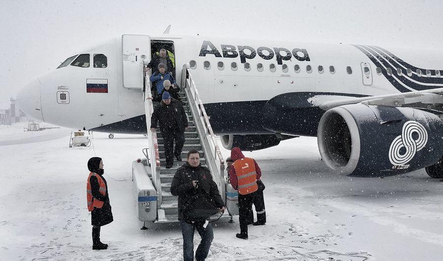 Я полетел в Южно-Сахалинск покататься на горных лыжах Snow Snow❄ Winter Air AirPlane ✈ Airplane Airport Aircraft