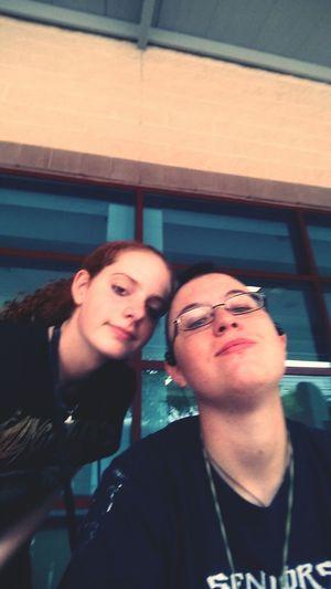 me and my awesime friend she a cool girl lol