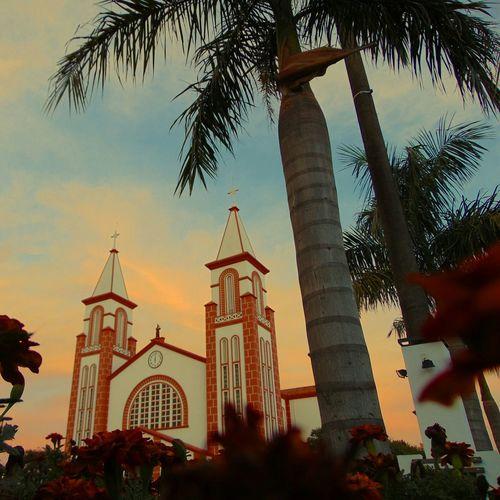 CHAPECÓ - SC BRASIL Turistando Church Sunset Sunsetlovers City