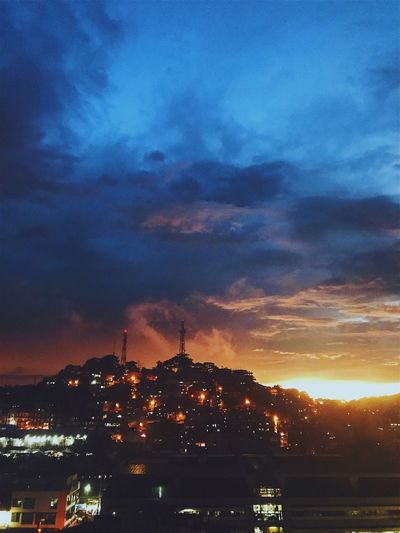 Sunset in the city ❤️ Sky Dramatic Sky Outdoors Sunset Nature Scenics Beauty In Nature Cityscape Philippines Blue City View  Night The Week On EyeEm EyeEmNewHere