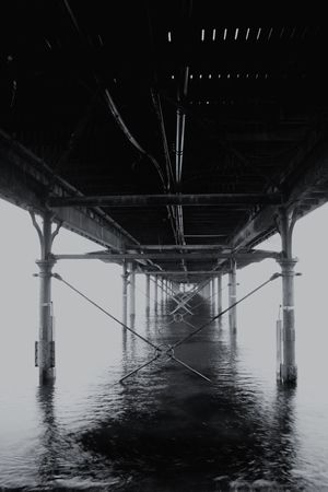Bridge - Man Made Structure Connection Built Structure Underneath Architectural Column Outdoors Architecture Day Sea No People Below Water Nature Sky Paignton Paignton Pier Torbay EyeEmNewHere Long Goodbye The Secret Spaces EyeEmNewHere Resist The Architect - 2017 EyeEm Awards