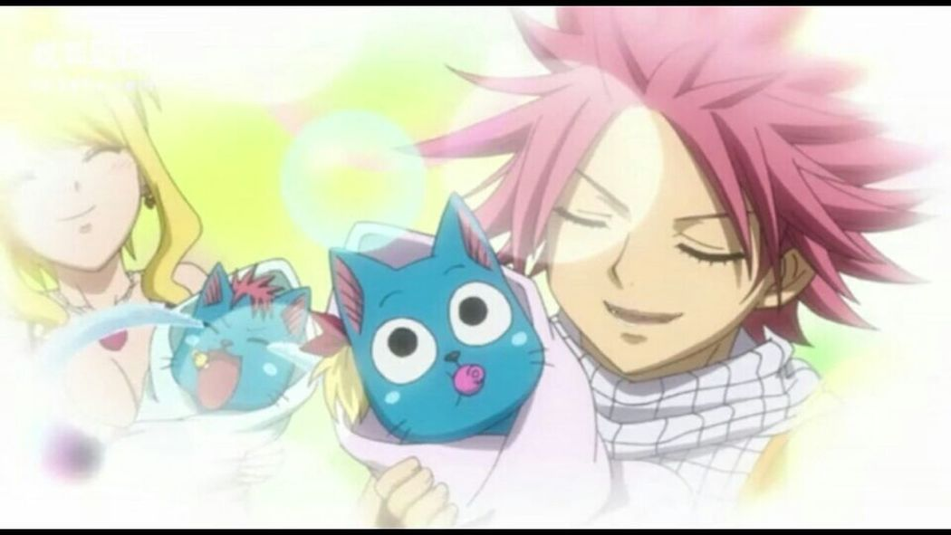 Fairy Tail 妖精的尾巴 Natsu , Lucy and Happy Family Spoof