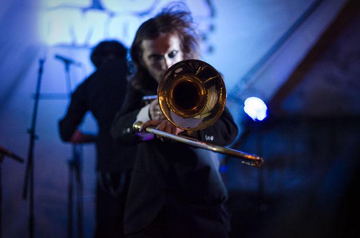 Suicide djs Blue Illuminated Lifestyles Live Music Music Musician Theater Trombone