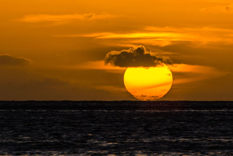 Sunset at Soufriere Bay Beauty In Nature Dominica No People Orange Color Outdoors Sea Sky Soufriere, Dominica Sunset Tranquility