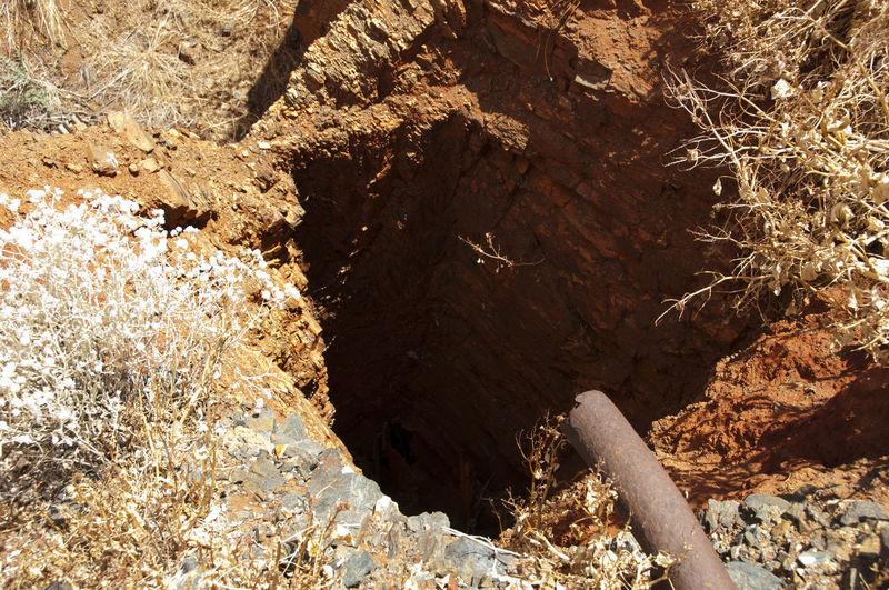 Old Mine Shaft GOLD RUSH Mine Shaft Hole Mine Mining Old Shaft
