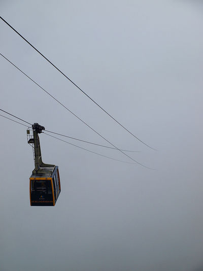 Nebelhorn Claustrophobia  Gondola Lost Nebelhorn Alps Alps Austria Cabin Cable Clear Sky Connection Danger Day Dust Electricity  High Angle View Low Angle View Mist Nature No People Outdoors Overhead Cable Car Ski Lift Sky Technology Transportation