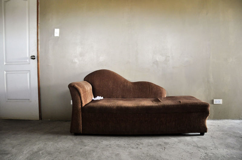 View Of Sofa Against The Wall