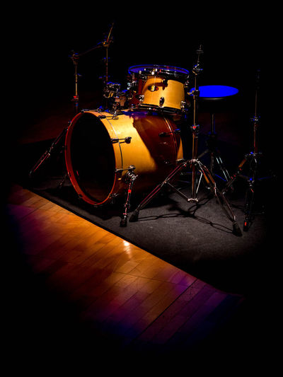 Black Background Drum Drum Kit Drums Indoors  Music Musical Instrument Musical Instruments No People Performance Recording Studio Sound Recording Equipment Stage - Performance Space