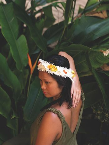 PARADISE WOMEN II Hawaii Life Hawaii Paradise Paradise ❤ Hair Dressing Leaf Adult Only Women One Woman Only Adults Only One Person Young Adult One Young Woman Only People Young Women Plant Outdoors Day Close-up Nature Beautiful Woman This Is My Skin