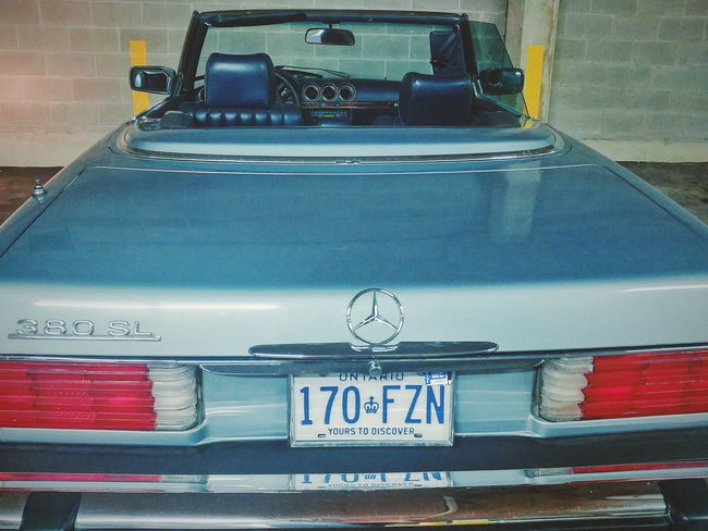 Text Car Vehicle Ontario Canada License Plate Mercedes Classic Vintage Convertible
